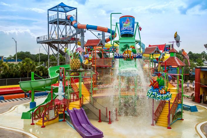 CoCo Key offers 54,000 square feet of water park fun, much of it under an oversized shade canopy.