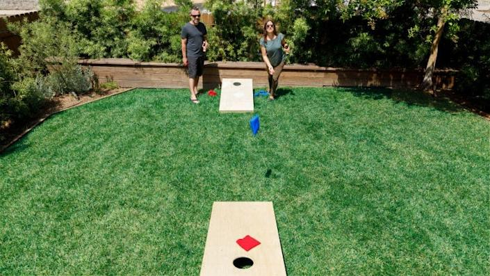 If you like playing a game with a beer in hand, you can't beat cornhole.