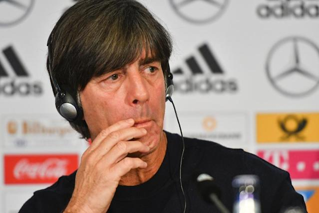 Germany's headcoach Joachim Loew addresses a press conference a day ahead of his team's international friendly match against Spain (AFP Photo/Patrik STOLLARZ)