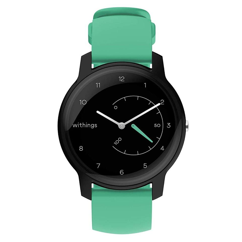"""<p><strong>Withings</strong></p><p>amazon.com</p><p><strong>$69.95</strong></p><p><a href=""""http://www.amazon.com/dp/B07NMRDKWF/?tag=syn-yahoo-20&ascsubtag=%5Bartid%7C2089.g.318%5Bsrc%7Cyahoo-us"""" target=""""_blank"""">Shop Now</a></p><p>The Withings Move is the best fitness- and activity-tracking watch<br>for budget-conscious buyers. Priced well below $100, the gadget offers a robust set of fitness- and sleep-tracking features, a fully waterproof body with an elegant design, and fantastic battery life (the timepiece can last up to 18 months between battery replacements).  </p><p>The affordable timepiece has a dedicated complication for tracking your daily progress. You can view all the sleep- and activity- tracking data collected by the watch, as well as receive bespoke tips in a mobile app with a beautiful and intuitive design. </p><p>Reviewers from <a href=""""https://www.techradar.com/reviews/withings-move-review"""" target=""""_blank"""">TechRadar</a> and <a href=""""https://www.wired.com/review/withings-move-watch/"""" target=""""_blank""""><em>Wired</em></a> liked the Withings Move for offering cool design and top-notch battery life at an affordable price point. The editors also noted, however, that the device lacks a heart rate sensor — an essential feature for accurate activity tracking. </p>"""