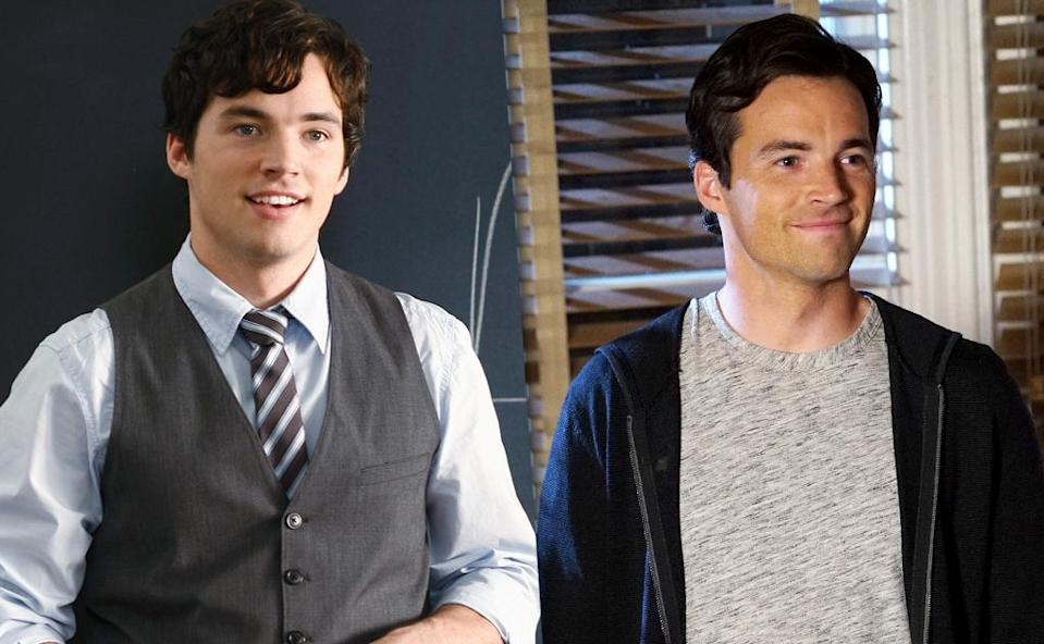 <p>Harding broke out with <em>PLL</em> and he quickly became a fan favorite during Ezra and Aria's illicit, steamy affair. Their on again/off again relationship has been a major source of romantic conflict on the show. (Photo: ABC/Getty Images) </p>