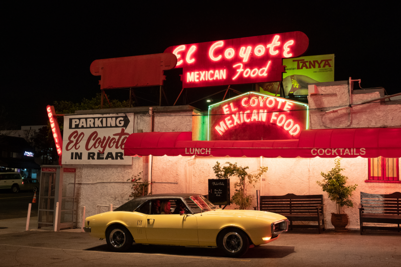 Once Upon a Time in Hollywood filming location El Coyote Mexican Café