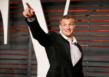 FILE PHOTO: NFL football player Rob Gronkowski arrives at the Vanity Fair Oscar Party in Beverly Hills, California February 28, 2016. REUTERS/Danny Moloshok/File Photo