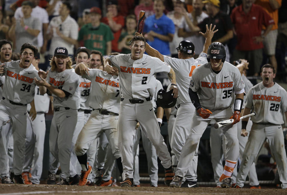 It took one massive break for Oregon State to take Game 2 of the College World Series. (AP Photo)