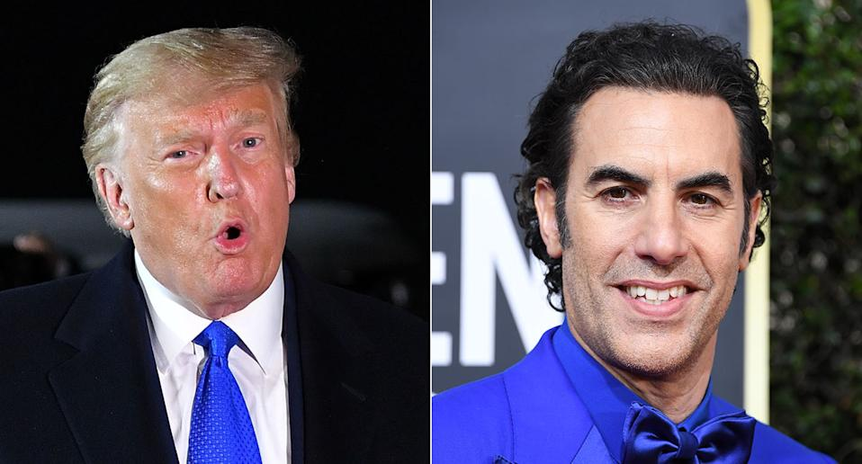 "Donald Trump brands Borat star Sacha Baron Cohen ""a creep"" (getty images)"