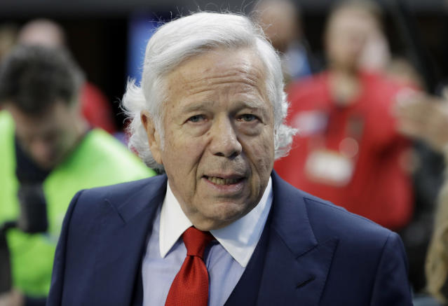 Patriots owner Robert Kraft has publicly and privately admonished Donald Trump for his criticism of NFL player protests. (AP)