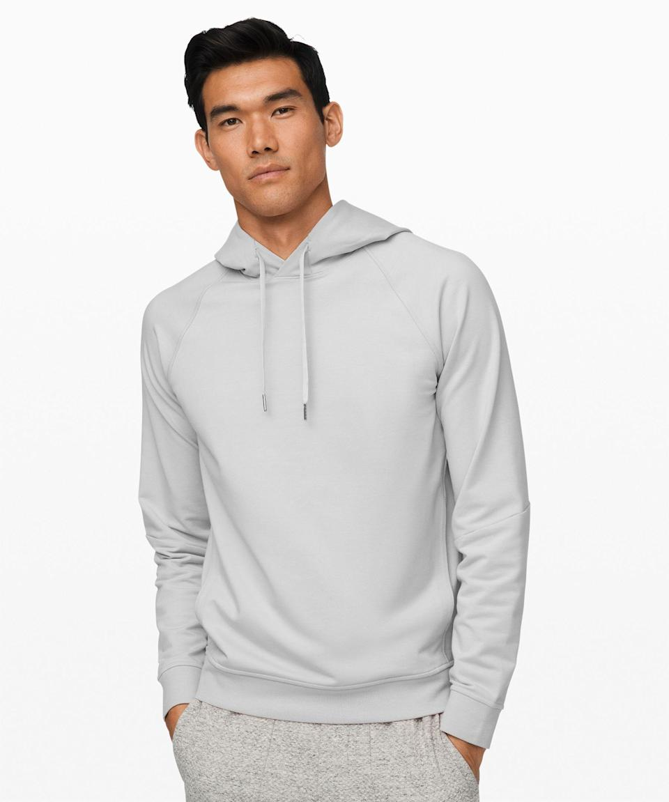 """<p><strong>Lululemon</strong></p><p>lululemon.com</p><p><strong>$118.00</strong></p><p><a href=""""https://go.redirectingat.com?id=74968X1596630&url=https%3A%2F%2Fshop.lululemon.com%2Fp%2Fmens-jackets-and-hoodies-hoodies%2FCity-Sweat-Pullover-Hoodie%2F_%2Fprod8910102&sref=https%3A%2F%2Fwww.womenshealthmag.com%2Flife%2Fg33501922%2Funique-gift-ideas-for-men%2F"""" rel=""""nofollow noopener"""" target=""""_blank"""" data-ylk=""""slk:Shop Now"""" class=""""link rapid-noclick-resp"""">Shop Now</a></p><p>There's no such thing as too many hoodies amiright? Elevate his everyday comfort with this ultra-cozy yet breathable hoodie. It's the perfect balance of soft and stretchy, and the fabric is also sweat-wicking, so he can put off laundry day as long as he wants.</p>"""