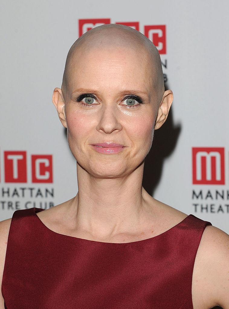 <p>The <em>Sex and the City</em> star shaved her head for the role of a cancer-stricken poet in the play <em>Wit</em>. (Photo: Getty Images) </p>