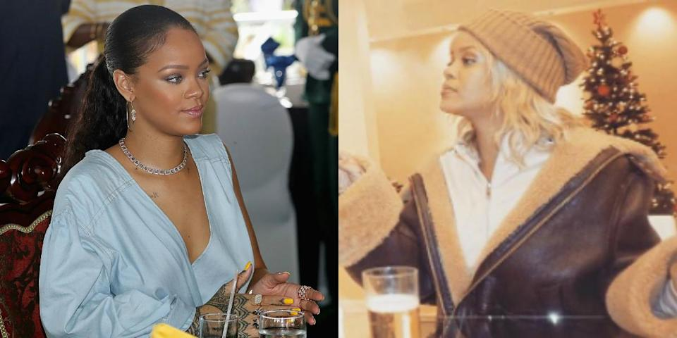 <p>Just in time for the holidays, Rihanna was spotted with platinum blonde locks! Is blonde a new trend for 2017, or has RiRi simply been influenced by Kanye and Blac Chyna? <i> (Photos: Getty/Instagram/December 2016). </i> </p>