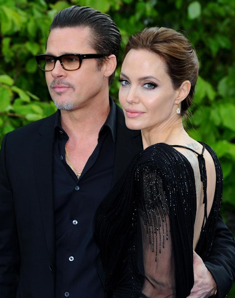 Brad and Angelina in happier times. Source: Getty