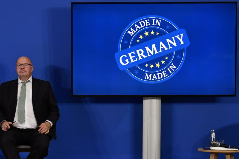 FILE PHOTO: Germany's Federal Economy Minister Peter Altmaier gives a news conference in Berlin