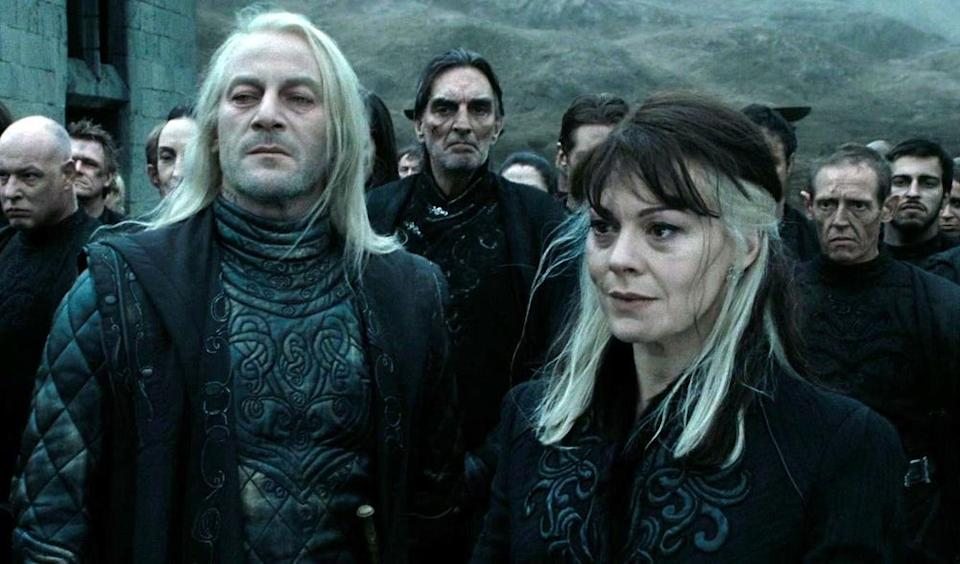 Jason Isaacs and Helen McCrory in Harry Potter