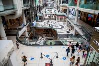 FILE PHOTO: Toronto's Eaton Centre shopping mall in June during Phase 2 of the reopening from the coronavirus disease (COVID-19) restrictions