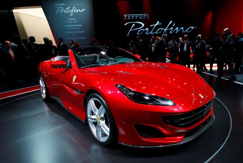 FILE PHOTO: New Ferrari Portofino is displayed during the Frankfurt Motor Show (IAA) in Frankfurt