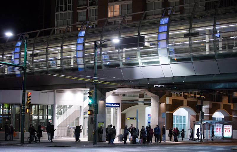 The Main Street Science World Skytrain station in Vancouver. (Photo: Darryl Dyck/THE CANADIAN PRESS)