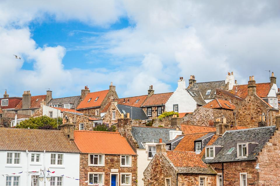 The roofs of the small coastal Scottish town of Crail.