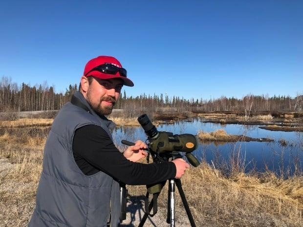 Reid Hildebrant of Yellowknife loves to bird watch and he has a deep knowledge of birds.