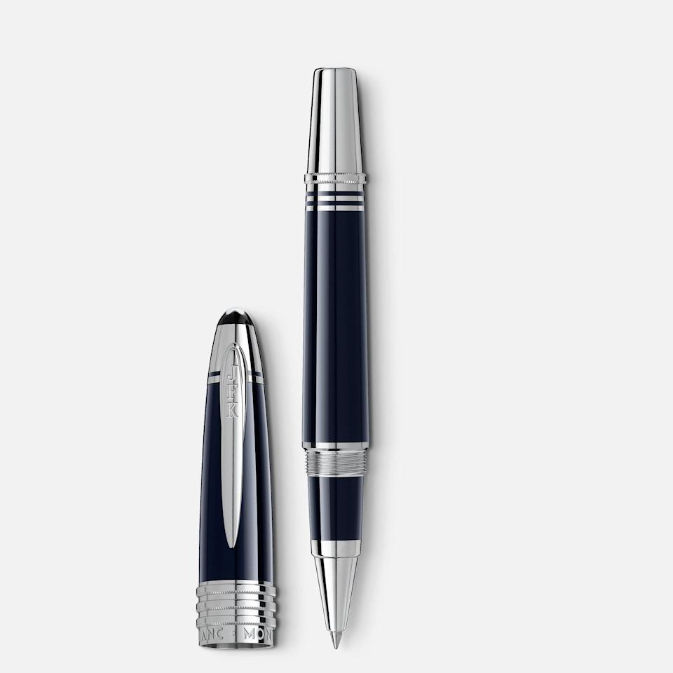 """<p>montblanc.com</p><p><strong>$925.00</strong></p><p><a href=""""https://go.redirectingat.com?id=74968X1596630&url=https%3A%2F%2Fwww.montblanc.com%2Fen-us%2Frollerball-pens_cod19971654706766404.html&sref=https%3A%2F%2Fwww.townandcountrymag.com%2Fstyle%2Fhome-decor%2Fg37950696%2Fbest-pens-for-writing%2F"""" rel=""""nofollow noopener"""" target=""""_blank"""" data-ylk=""""slk:Shop Now"""" class=""""link rapid-noclick-resp"""">Shop Now</a></p><p>Channel our 35th president with a dark blue resin pen with a platinum clip. It's so stunning, you'll be sure to sign everything with it—not jut official and privileged documents. </p>"""