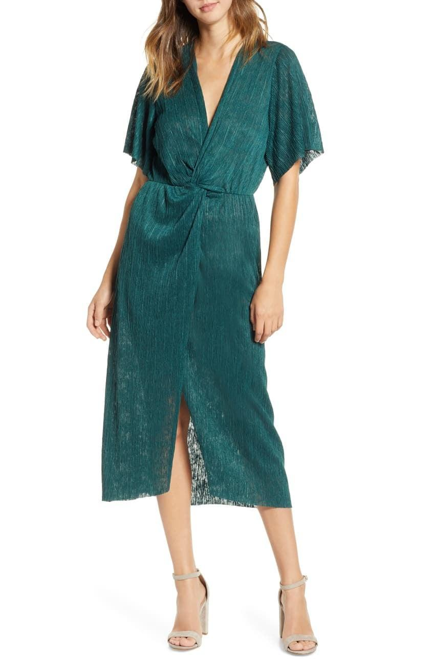 <p>Dress up and throw yourself a solo party in this <span>All In Favor Dolman Plissé Midi Dress</span> ($8, originally $59).</p>