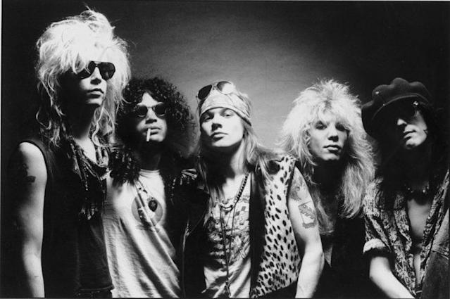 Guns N' Roses in 1987. (Photo: Ross Halfin/Geffen Records)