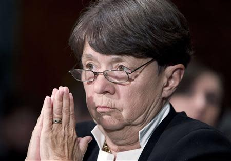 File of SEC Chair White testifies at Senate Banking, Housing and Urban Affairs Committee hearing on Capitol Hill