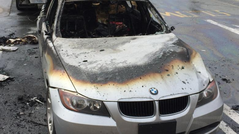 Man's week off to a better start, despite BMW bursting into flames