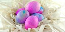 "<p>Easter egg decorating doesn't only have to be for kids. If you're looking for a way to have fun dyeing eggs but upping the ante a bit, you've found it. Bonus: This activity uses everyday household items, so you don't have to spend lots of money. <br></p><p><em><a href=""https://www.womansday.com/life/g31097430/shaving-cream-dye-easter-eggs/"" rel=""nofollow noopener"" target=""_blank"" data-ylk=""slk:Get the Shaving Cream Easter Eggs tutorial."" class=""link rapid-noclick-resp"">Get the Shaving Cream Easter Eggs tutorial.</a></em> </p>"