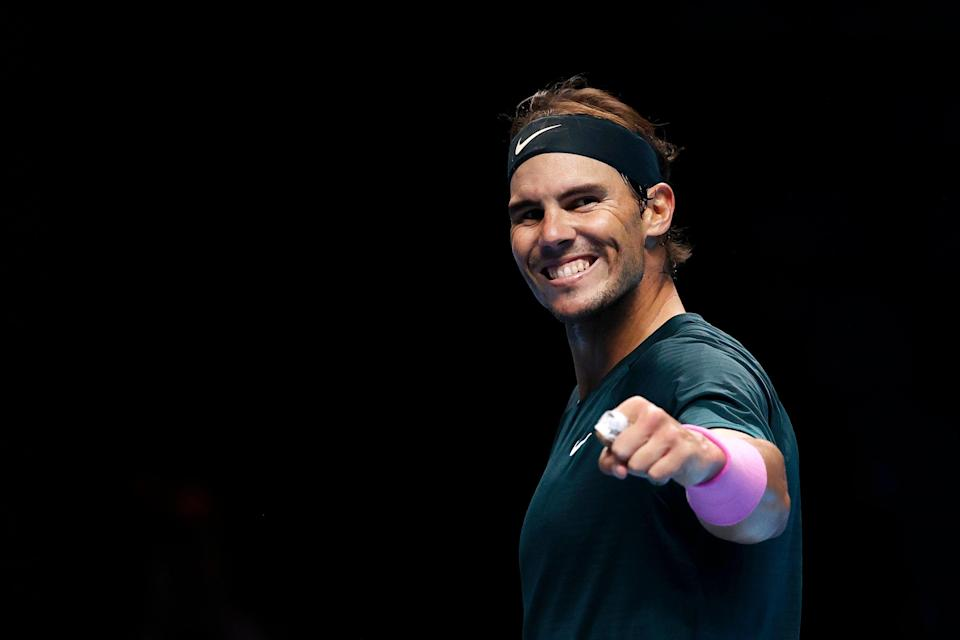 <p>Rafael Nadal will face Daniil Medvedev in the last four at the ATP Finals</p> (Getty Images)