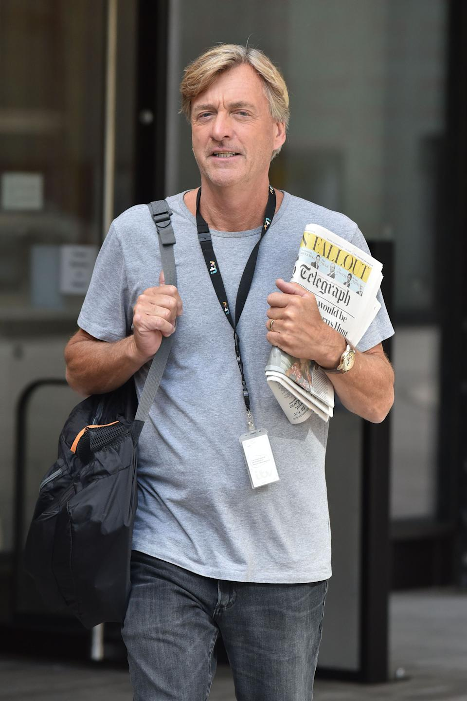 Richard Madeley outside ITV Studios in May 2019 (Photo: HGL via Getty Images)