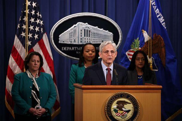 PHOTO: Attorney General Merrick Garland speaks about voting rights legislation at a news conference at the Department of Justice on June 25, 2021, in Washington. (Anna Moneymaker/Getty Images, FILE)