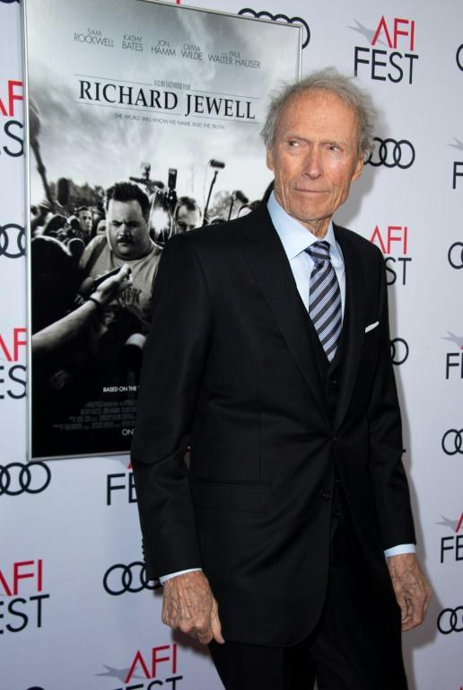 """Clint Eastwood last hit the Hollywood red carpet in November 2019 for the premiere of his film """"Richard Jewell,"""" which received mixed reviews (AFP Photo/VALERIE MACON)"""