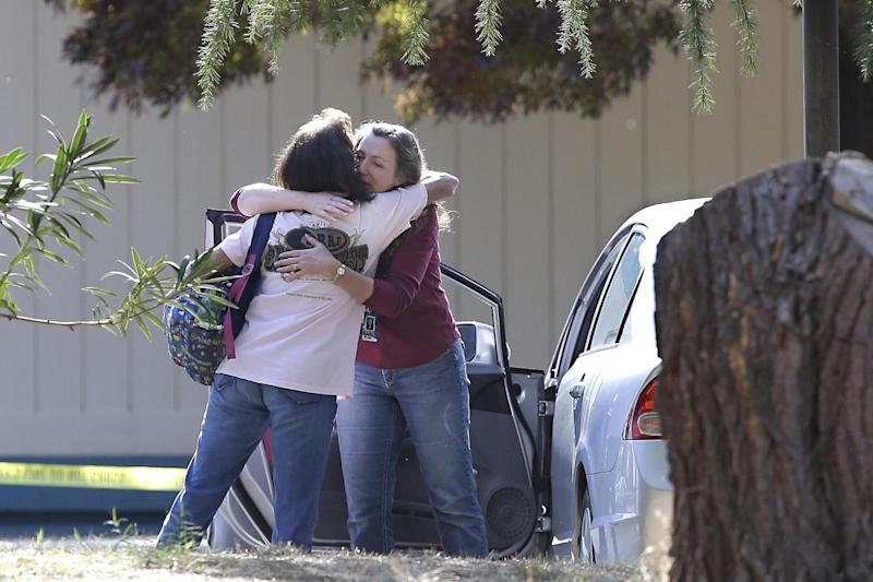 At least one child was wounded at the Rancho Tehama Elementary School (AP)