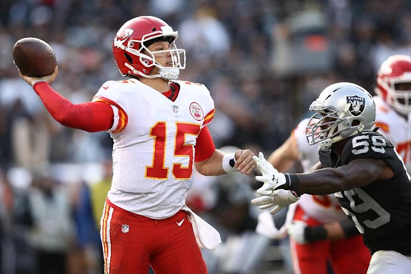 Kansas City quarterback Patrick Mahomes has the Chiefs on the brink of an NFL playoff spot