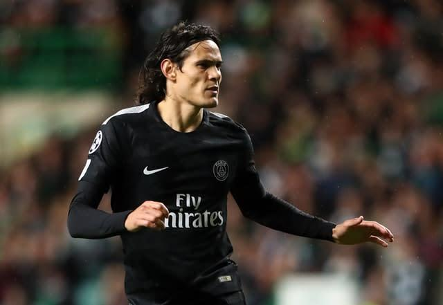 Paris St Germain's Edinson Cavani could be on the move (Andrew Milligan/PA)