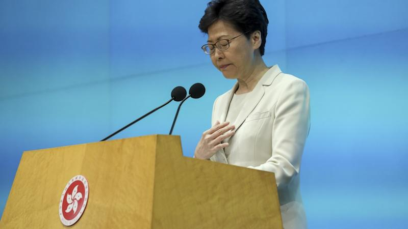 'I have heard you loud and clear,' Hong Kong leader Carrie Lam tells city in 'most sincere' apology