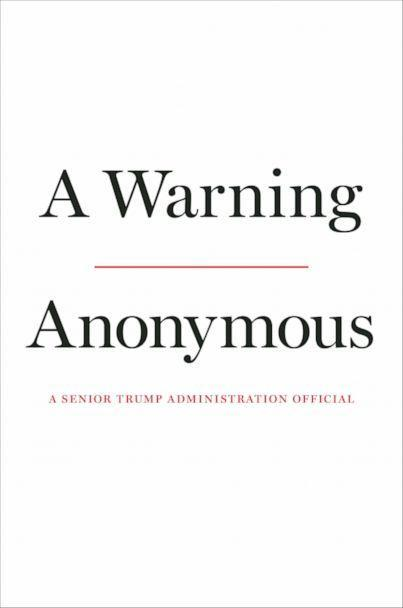 PHOTO: The anonymous senior Trump administration official behind a 2018 New York Times op-ed that declared there was a 'resistance' within the administration is writing a book available on Nov. 19, 2019. (Twelve)