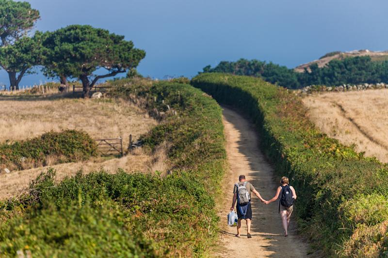 Explore Herm's beautiful landscapes on a nature walk.