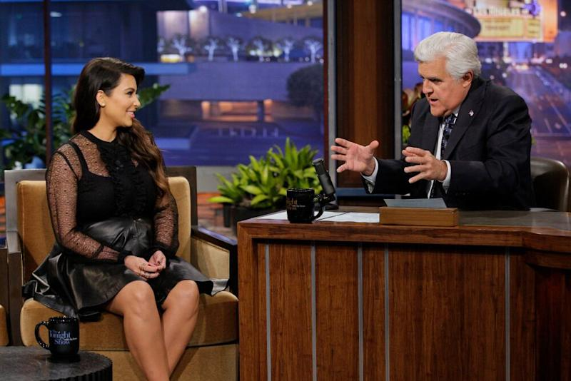 Kim Kardashian and Jay Leno | Paul Drinkwater/Getty Images