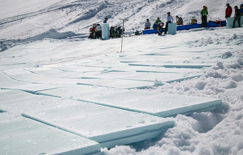Snow farming is becoming increasingly popular in the Alps - courchevel toursim