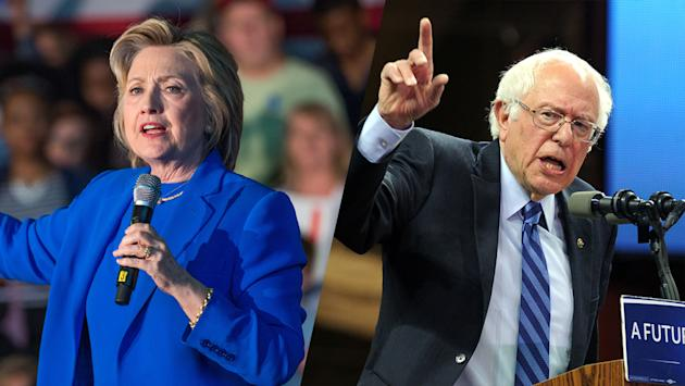 Clinton Sanders Take Campaigns To Los Angeles At Rival Events