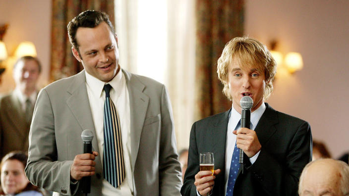 Vince Vaughn and Owen Wilson in romcom 'Wedding Crashers'. (Credit: New Line Cinema)