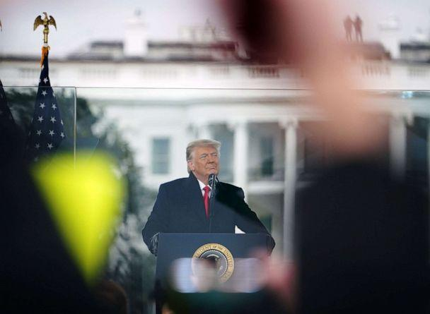 PHOTO: President Donald Trump speaks to supporters from The Ellipse near the White House on Jan. 6, 2021, in Washington, DC. (Mandel Ngan/AFP via Getty Images)