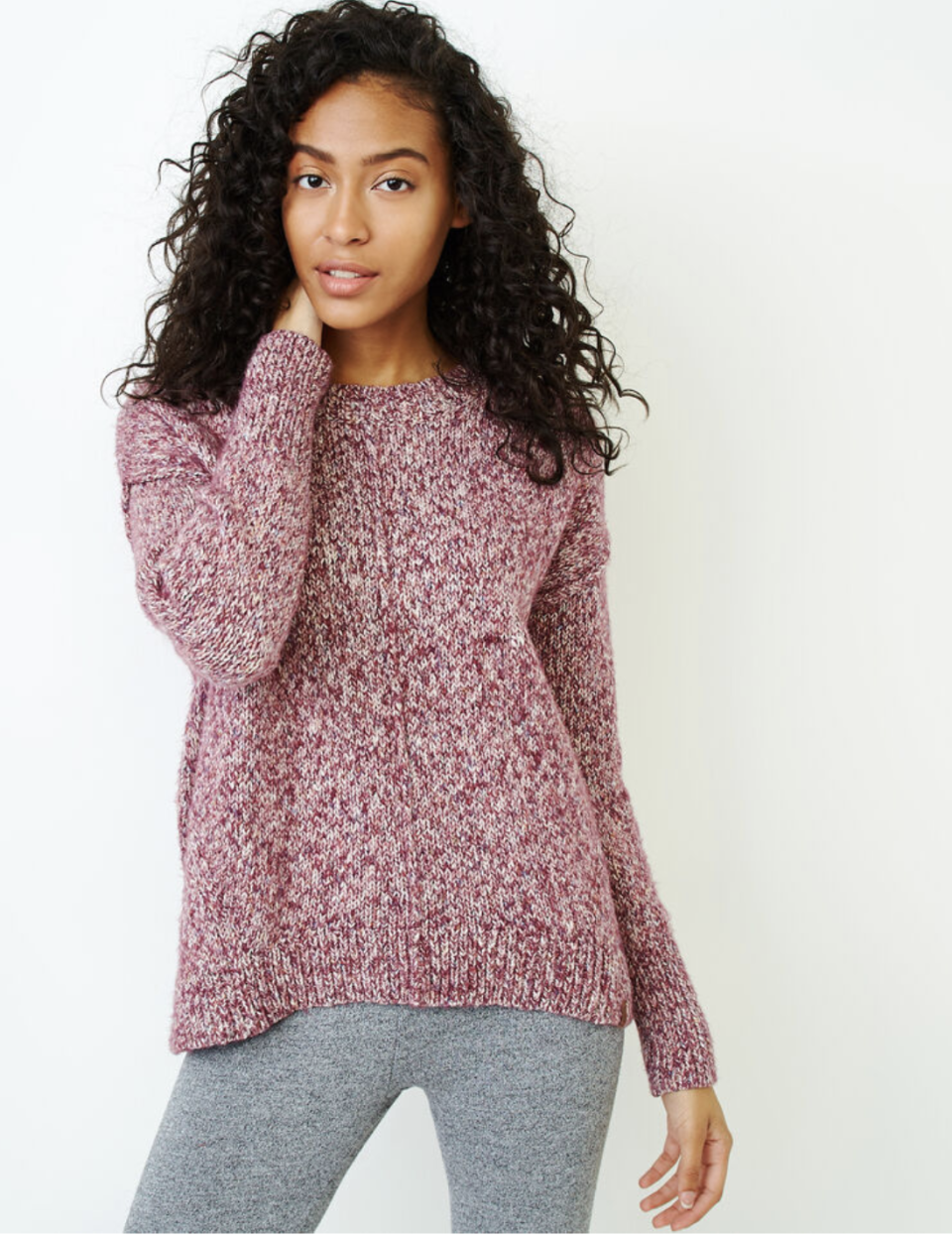 Moss Crew Sweater. Image via Roots.
