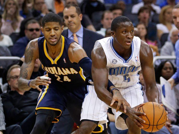 Paul George and Victor Oladipo were both victims of a weird South Florida con. (AP)