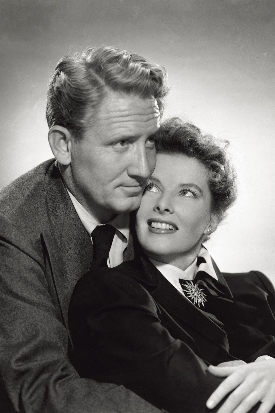 "<p>During their <a href=""https://www.vanityfair.com/hollywood/2014/02/katharine-hepburn-spencer-tracy-movie"" rel=""nofollow noopener"" target=""_blank"" data-ylk=""slk:infamous 25-year love affair"" class=""link rapid-noclick-resp"">infamous 25-year love affair</a>, Tracy remained married to his wife Louise. The couple co-starred in nine movies together, but always lived separately. Only after Tracy's wife passed away did Hepburn come forward about their relationship. </p>"