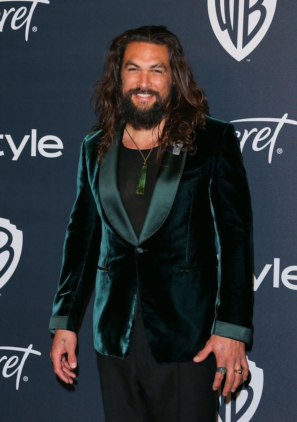 """<p>Now: Momoa has taken the acting world by storm with roles as Aquaman and Khal Drogo in Game of Thrones. With his buff physique and intimidating height, Momoa is known for starring as <a href=""""https://www.imdb.com/name/nm0597388/?ref_=nmawd_awd_nm"""" rel=""""nofollow noopener"""" target=""""_blank"""" data-ylk=""""slk:warriors and tough figures in films"""" class=""""link rapid-noclick-resp"""">warriors and tough figures in films</a>.</p>"""