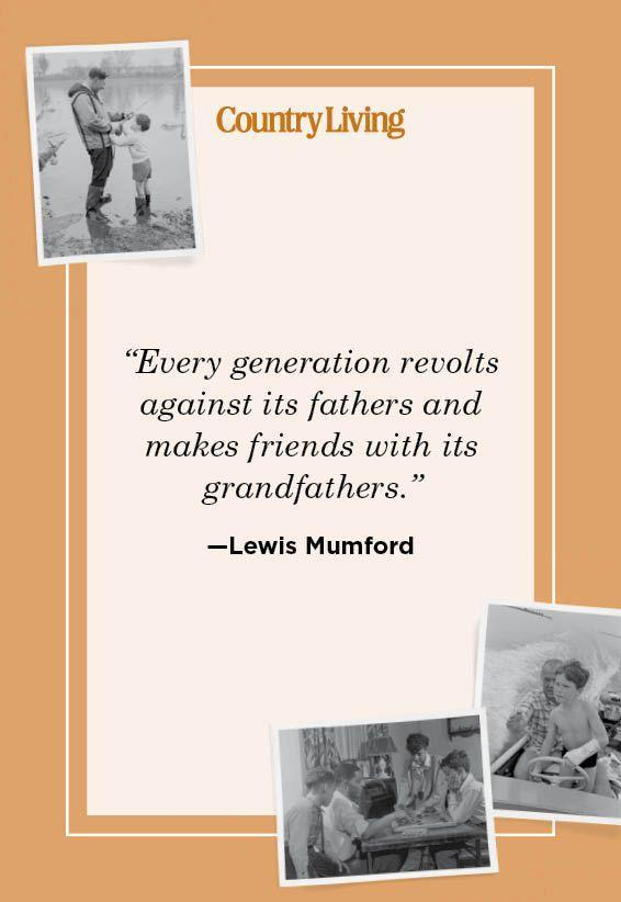 """<p>""""Every generation revolts against its fathers and makes friends with its grandfathers."""" </p>"""