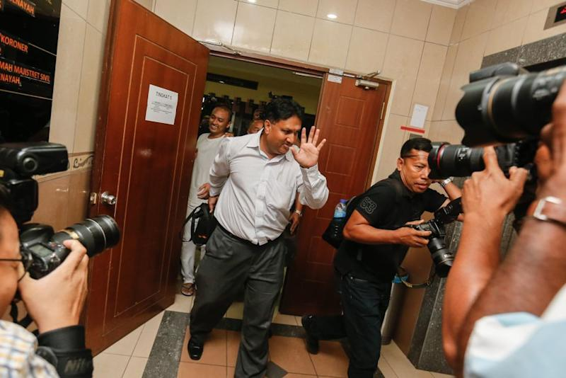 L. Prem Anand is pictured at the George Town Magistrate's Court on November 12, 2019. — Picture by Sayuti Zainudin