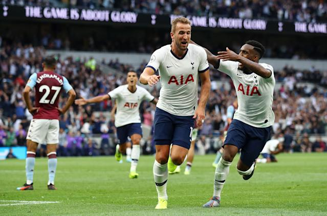 Kane put the icing on the cake with his second - and Tottenham's third. (Photo by Julian Finney/Getty Images)