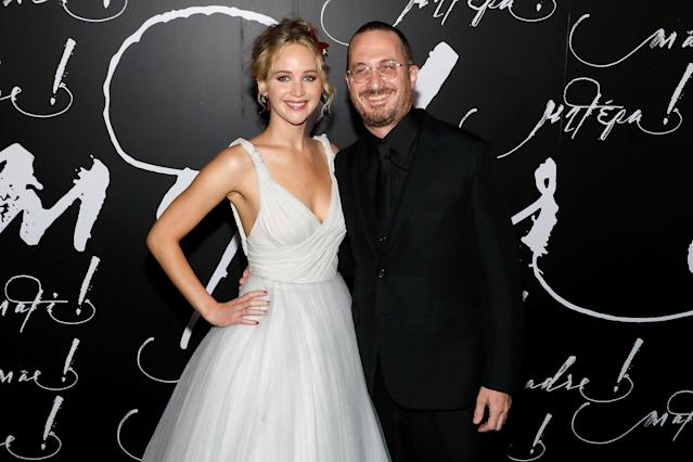 Jennifer Lawrence and Darren Aronofsky attend the premiere of <em>Mother! </em>at Radio City Music Hall on Sept. 13 in New York. (Photo: Taylor Hill/Getty Images)